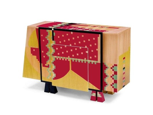 CALAMOBIO Chest of Drawers-Dresser by Alessandro Mendini (Original Edition, 1985) from STUDIO ALCHIMIA in the Alessandro Mendini Atelier - Copyright: © Alessandro Mendini (Atelier Mendini)