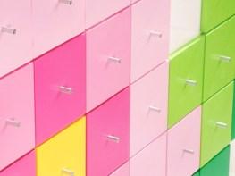 8-BIT DRAWERS Bookcase-Bookshelves-Cabinet by Gilli Kuchik (2011, Bakery Design Studio)-photo by Yigal Pardo (Copyright: © Bakery Design Studio, Gilli Kuchik, Ran Amitai, Yigal Pardo)