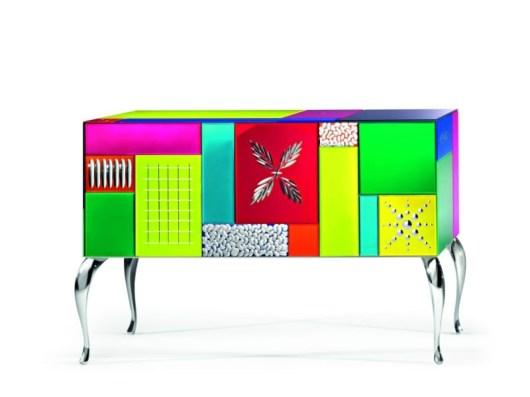 GOOD MOOD 7000 Multicolor 3-Door Sideboard-Credenza-Buffet by Leonardo de Carlo ('Riflessivo' Series, 2010) from ARTE VENEZIANA (Copyright: © Leonardo de Carlo, ARTE VENEZIANA)
