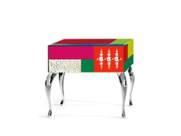 GOOD MOOD 7030 Side Table-Bedside Table-Nightstand by Leonardo de Carlo ('Riflessivo' Collection, 2010) from ARTE VENEZIANA (Copyright: © Leonardo de Carlo, ARTE VENEZIANA)