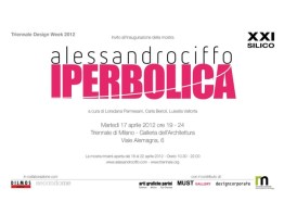 IPERBOLICA Collection Armchairs by Alessandro Ciffo at the 2012 TRIENNALE DESIGN WEEK in Milano (Invitation)
