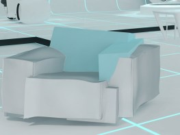 TRON Armchair by Dror Benshetrit for CAPPELLINI & WALT DISNEY SIGNATURE in 'TRON Designs Corian®' 2011 - Copyright©: Dror Benshetrit (Studio Dror), CAPPELLINI, DISNEY, DISNEY CONSUMER PRODUCTS, DUPONT© CORIAN©