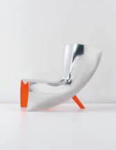 ALUFELT Chair by Marc Newson (Limited Edition of 6+2 Prototypes, 1993) from POD - 1 out of 2 Prototypes - Sold at a PHILLIPS Auction, April 2013) - Copyright©: Marc Newson, PHILLIPS