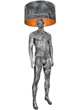 BARBEWIRE Mannequin Floor Lamp by Jimmie Karlsson & Martin Nihlmar from JIMMIE MARTIN (Copyright: © JIMMIE MARTIN, Jimmie Karlsson, Martin Nihlmar)