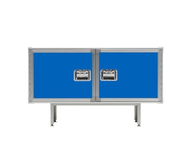 TOTAL FLIGHTCASE Sideboard-Credenza-Buffet from DIESEL & MOROSO (Successful Living from DIESEL with MOROSO Collection, 2009) - Copyright: © DIESEL, MOROSO (Photos: © Massimo Gardone & Maria Giulia Giorgiani)