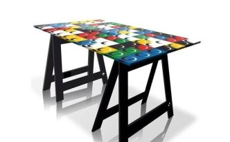 BRIKY Home Office Desk-Dining Table by Jean-Charles de Castelbajac from ACRILA (Copyright: © Jean-Charles de Castelbajac, ACRILA)
