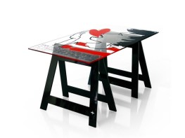VOYOY Home Office Desk-Dining Table by Jean-Charles de Castelbajac from ACRILA (Copyright: © Jean-Charles de Castelbajac, ACRILA)
