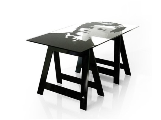 POETY Home Office Desk-Dining Table by Jean-Charles de Castelbajac from ACRILA (Copyright: © Jean-Charles de Castelbajac, ACRILA)