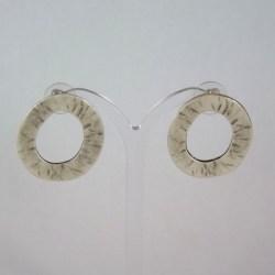Lunamor – Ohrstecker Oval grob
