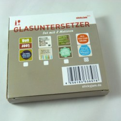 Glasuntersetzer Set - 2 Motive