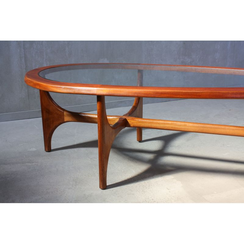 vintage teardrop coffee table by stonehill 1960s