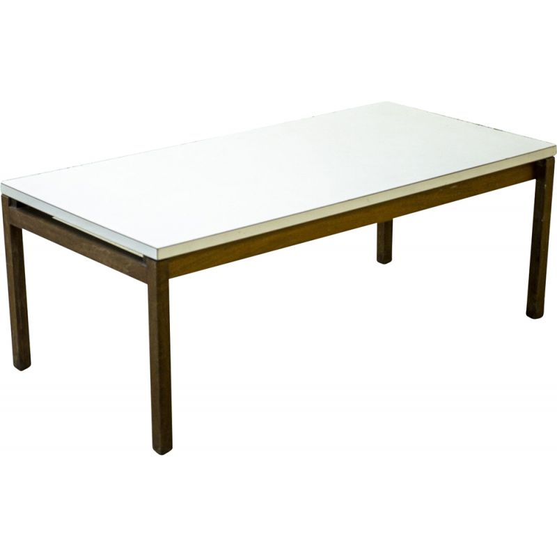 vintage white coffee table knoll