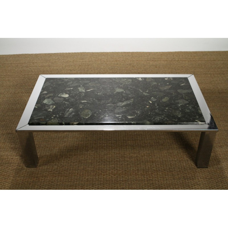 roche bobois coffee table in marble 1970s