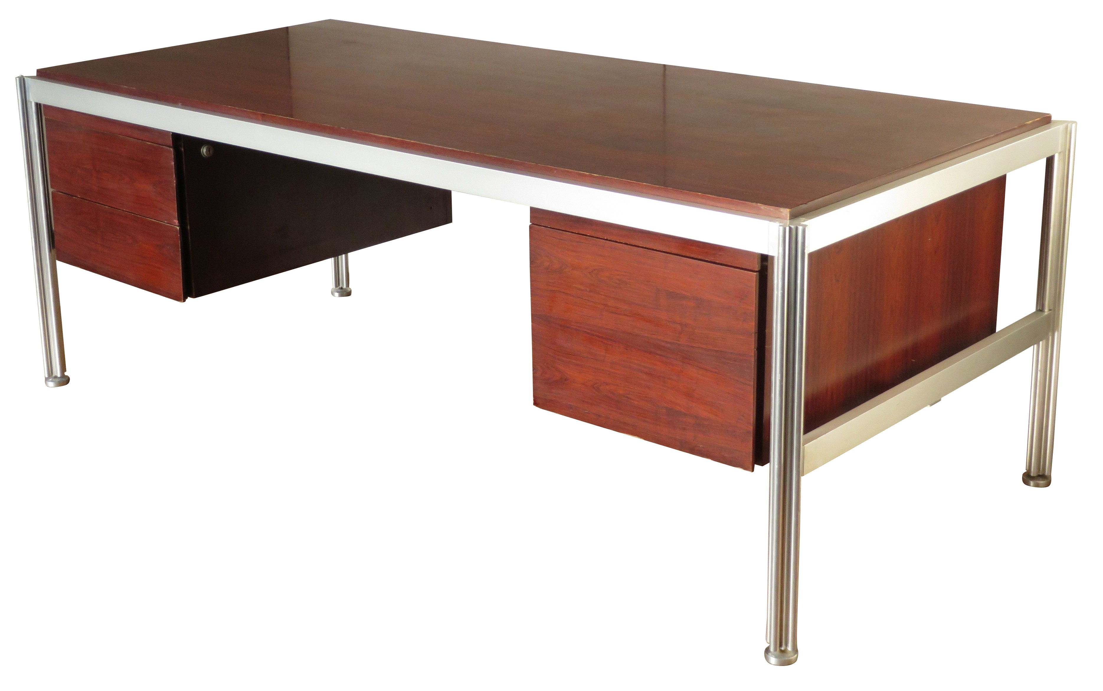 desk in rosewood george ciancimino 1970s