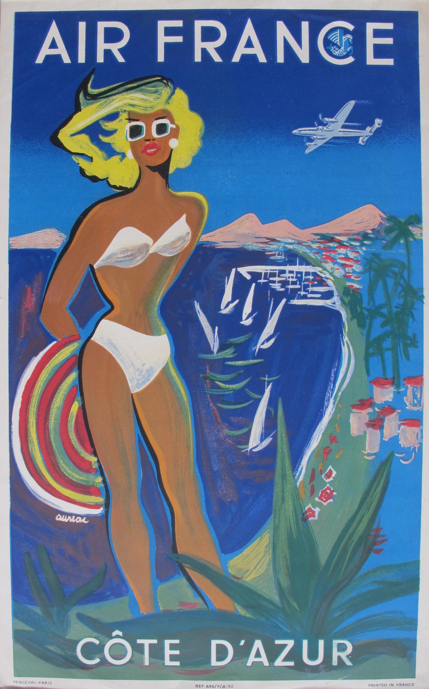 air france vintage poster auriol 1953