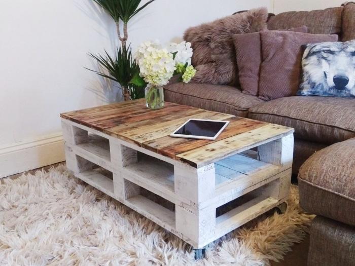 meuble en vogue une table basse faite