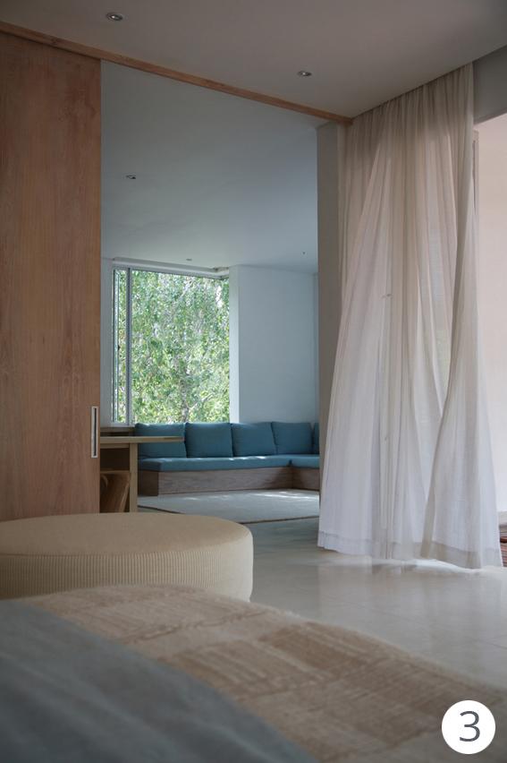 tende per una casa in bianco