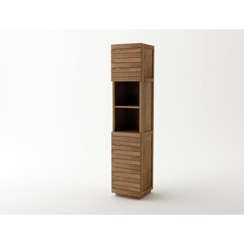 meuble colonne simple en teck rangement pour salle de bain