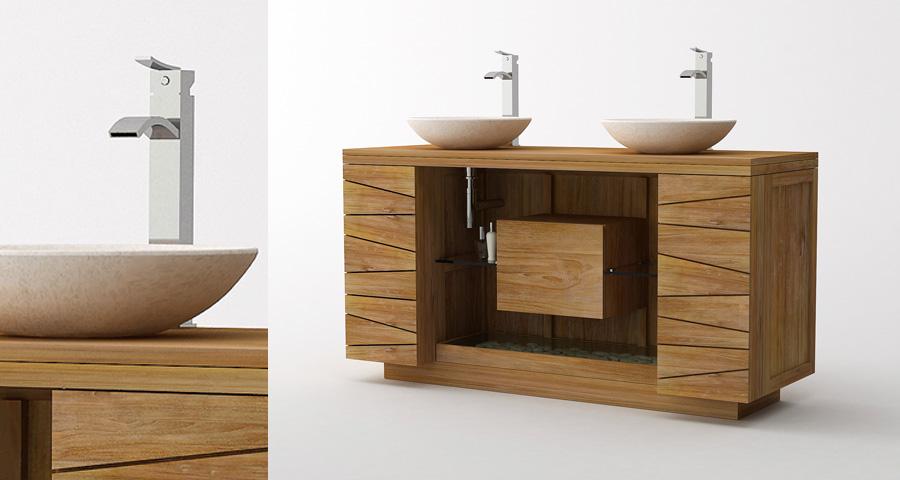 fabrication artisanale des meubles de salle de bain en teck massif label fsc