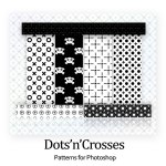 Dots, Crosses Cute Skull Photoshop Patterns