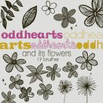 Doodle Flowers Leaves Brushes by: OddHearts