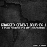 Cracked Cement Brushes by: TextureMate