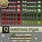 Christmas Layer Styles by: StarSunflower Studio