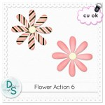 CU Flower Action by: Delicious Scraps