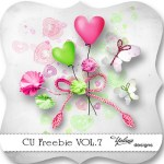 CU Digiscrap Freebie – Heart – Butterflies