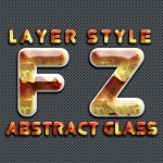 Photoshop Abstract Glass Layer Style