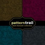 Free Dark Damask Patterns Collection