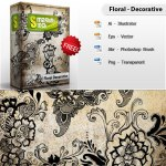 Free Floral Decorative Vector Brush Pack