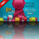 Free Ribbons Badges PSD Icon Template