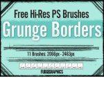Free Hi-Res Grunge Borders Brushes