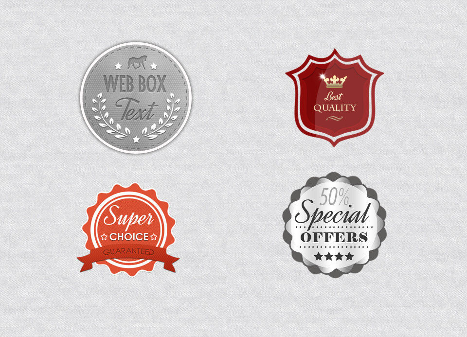 Free Vintage Retro Badges PSD