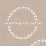 Hand Drawn Laurel Wreath Digital Clipart