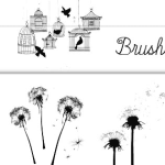 Dandelion & Bird Cage Brushes for Photoshop