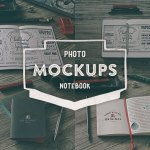 Notebook Mock-ups for Photoshop