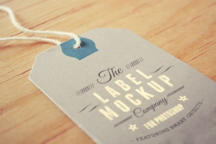 Tags Labels Brand Identity Logo Mockup Photoshop PSD