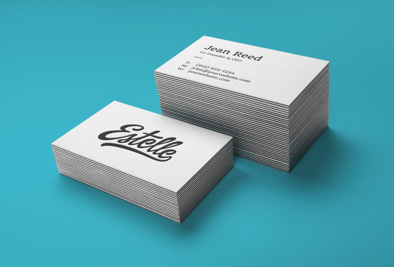 Stack letterpress business cards mockup design share stack letterpress business card mockup full reheart Image collections