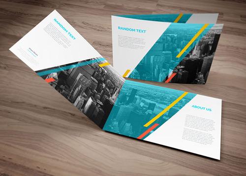 bi fold brochure design template in a4 landscape design share