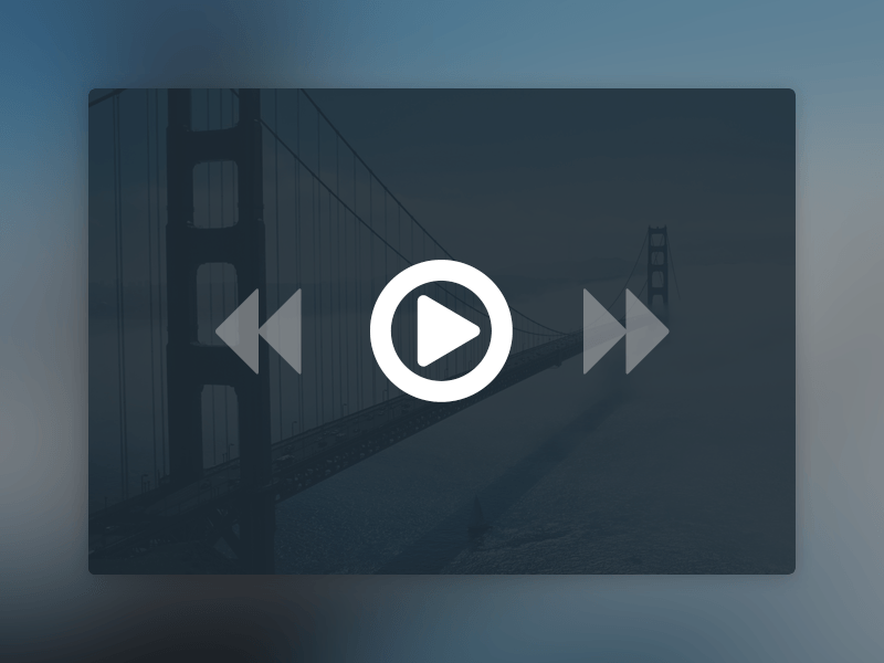 Website User Interface Design -Media Player PSD Mockup