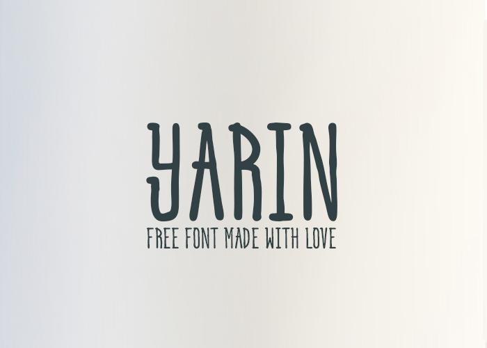 Yarin Hand Drawn Font