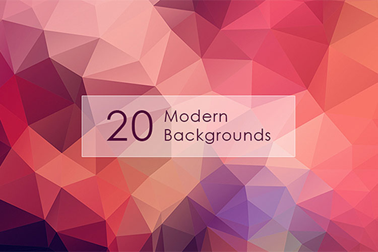 Modern Backgrounds with Low Poly Textures