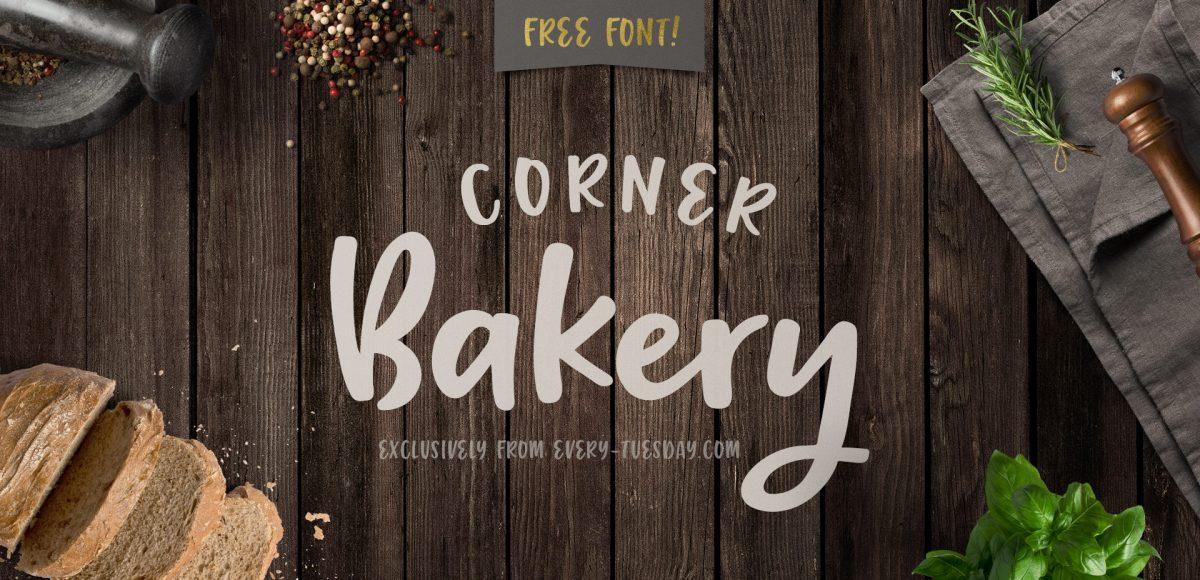Free Script Font - Corner Bakery