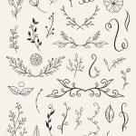 110 Free Doodle Floral Laurels