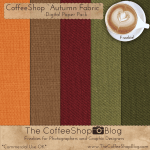 Autumn Burlap Digital Scrapbooking Papers