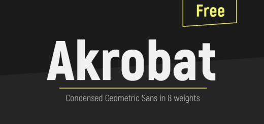 Akrobat | Condensed Sans Serif Font