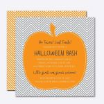 Chevron Pumpkin Halloween Card Template