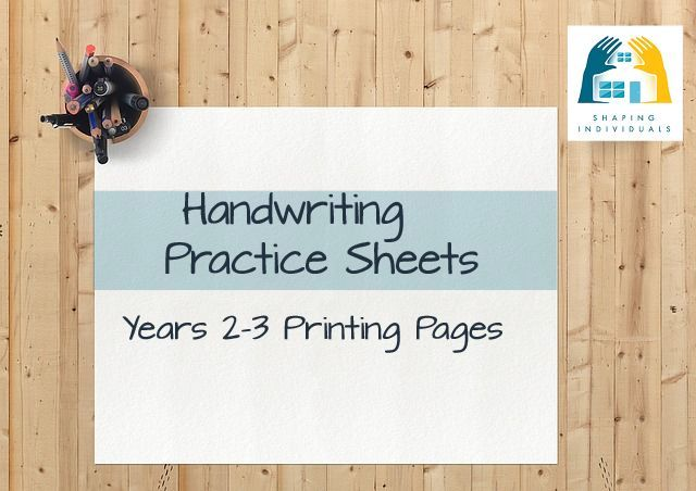 Handwriting Practice Sheets   free handwriting worksheets   3 styles Manuscript Years 2 3 Handwriting Practice Sheets from  www design your homeschool